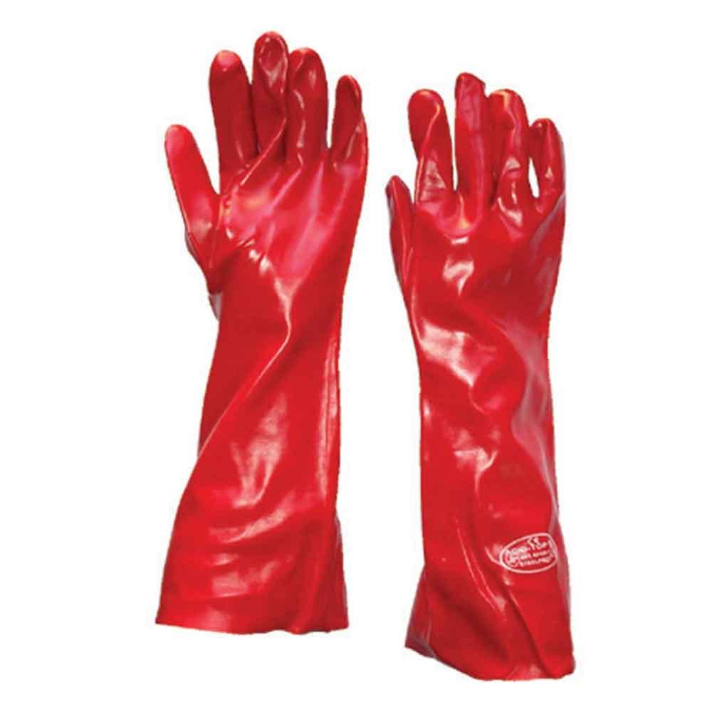 venta caliente barato marca famosa venta de bajo precio Guante Pvc 18 -45 Cm Rojo - vicsa